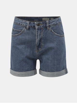 Modré džínové kraťasy s vysokým pasem VERO MODA Nineteen
