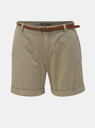 Pantaloni scurti bej cu curea VERO MODA Flash