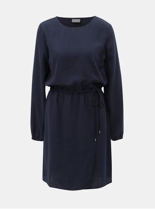 Rochie albastru inchis cu fusta suprapusa VILA Sarina