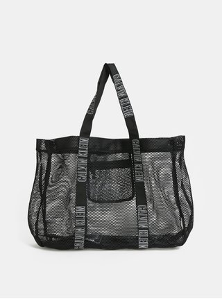 Černá plážová děrovaná taška Calvin Klein Underwear