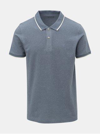Modré žíhané polo tričko Jack & Jones Roger