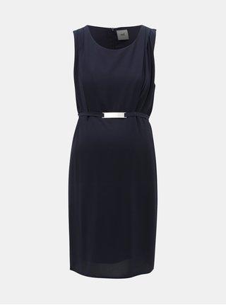 Tmavomodré šaty na dojčenie Mama.licious Lasy