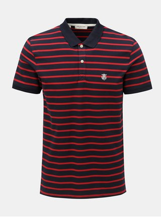 Červeno-modré pruhované polo tričko Selected Homme Haro