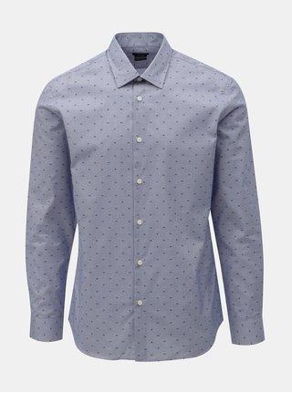 Světle modrá vzorovaná regular fit košile Selected Homme Jack