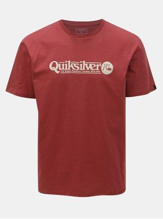 Červené regular fit tričko s potlačou Quiksilver