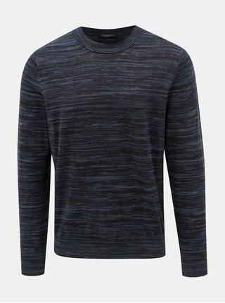 Tmavomodrý melírovaný sveter Selected Homme Carl