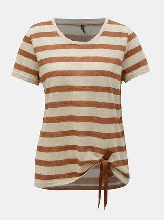 Tricou maro-bej in dungi ONLY Rill