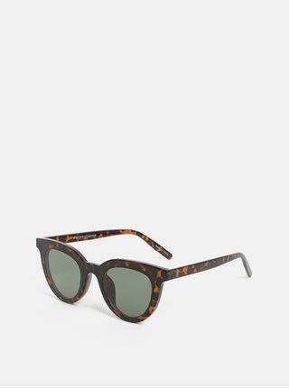 Ochelari de soare maro inchis cu model Pieces Bella