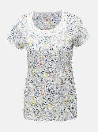 Tricou alb floral Brakeburn Botanical