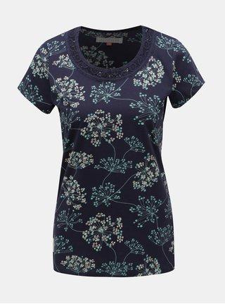 Tricou albastru inchis floral Brakeburn Cow Parsley