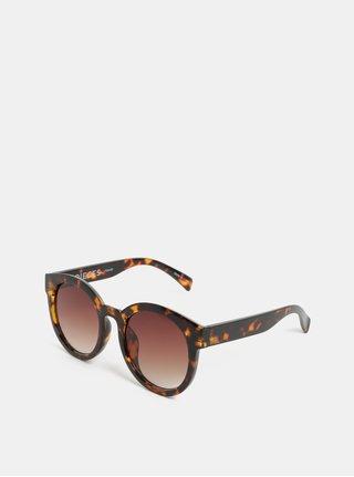 Ochelari de soare maro cu model Pieces Beate