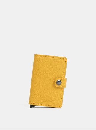 Hořčicová kožená peněženka s pouzdrem na karty Secrid