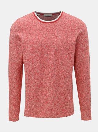 Červený ľanový melírovaný sveter Selected Homme New clash