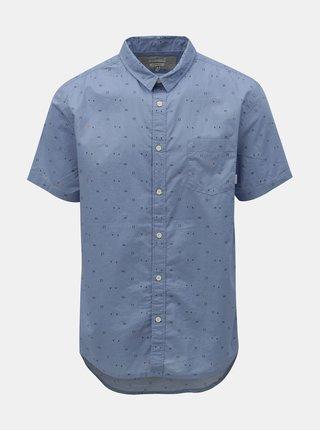 Camasa albastru deschis modern fit cu model discret Quiksilver