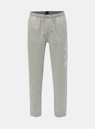 Pantaloni sport gri deschis melanj cu imprimeu Quiksilver