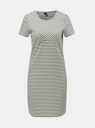 Černo-bílé pruhované pouzdrové šaty VERO MODA Vigga