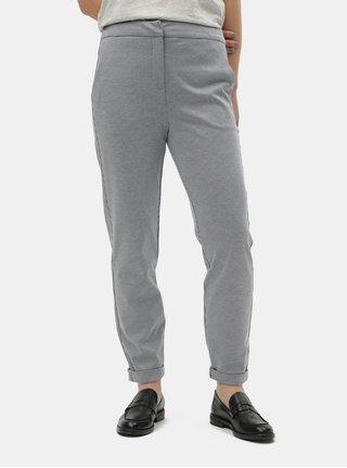 7db3010a73ba Modré vzorované nohavice s vysokým pásom VERO MODA Toni