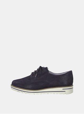 Pantofi albastru inchis din piele intoarsa Tamaris Greta