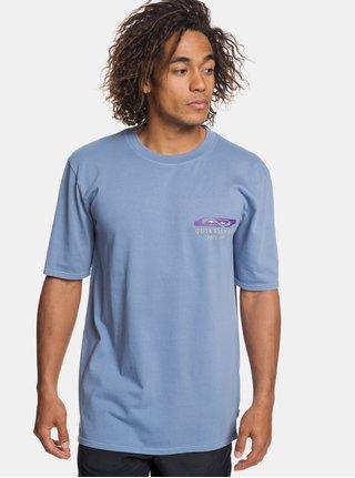 Tricou albastru deschis 90´s fit cu imprimeu la spate Quiksilver