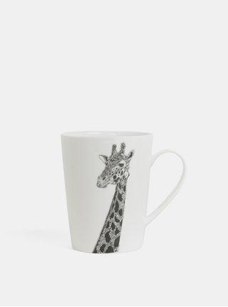 Bílý porcelánový hrnek s motivem žirafy Maxwell & Williams