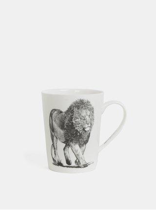 Bílý porcelánový hrnek s motivem lva Maxwell & Williams