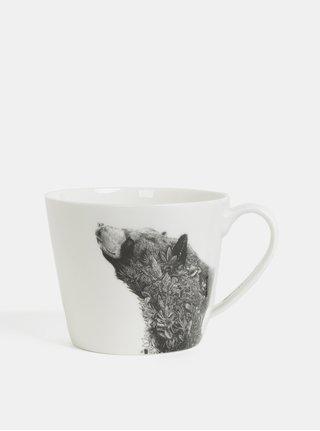Bílý porcelánový hrnek s motivem medvěda Maxwell & Williams