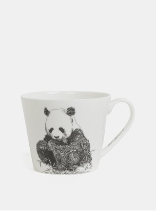 Bílý porcelánový hrnek s motivem pandy Maxwell & Williams