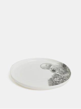 Bílý porcelánový talíř s motivem koaly Maxwell & Williams