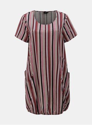 Vínové pruhované šaty Zizzi Amy