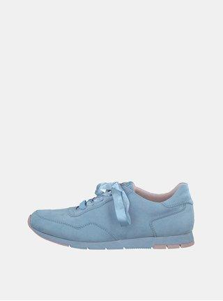 Pantofi sport albastru deschis cu aspect de piele intoarsa Tamaris Daki