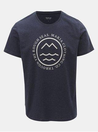 Tmavě modré pánské tričko s potiskem Makia Sight