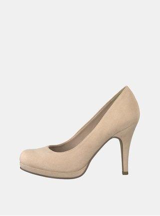 Pantofi roz deschis cu aspect de piele intoarsa Tamaris Taggia