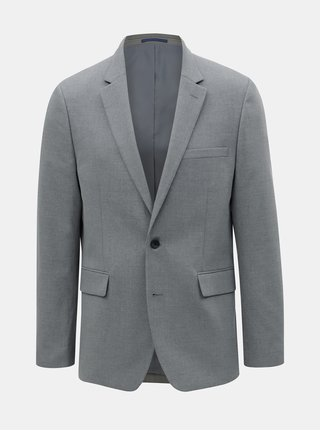 Šedé oblekové tailored fit sako Burton Menswear London
