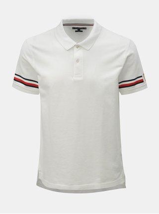 Bílé pánské slim fit polo tričko s potiskem Tommy Hilfiger