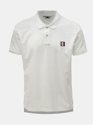 Bílé pánské regular fit polo tričko s nášivkou Tommy Hilfiger