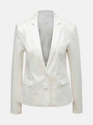 Bílé kostýmové sako VILA Adelia