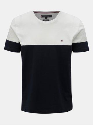 Bílo-modré pánské tričko Tommy Hilfiger