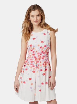 Bílé květované šaty Tom Tailor