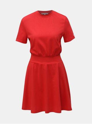 Červené šaty Calvin Klein Jeans