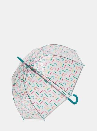Transparentní vystřelovací deštník s potiskem Esprit