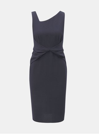 Tmavě modré pouzdrové šaty s řasením Dorothy Perkins