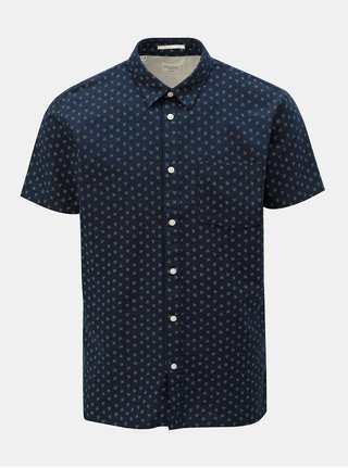 Camasa albastru inchis slim fit cu model Selected Homme Matthew