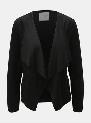 Černé sako v semišové úpravě Jacqueline de Yong Judy