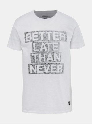 396bba19c7f8 Bílé slim fit tričko s potiskem Blend