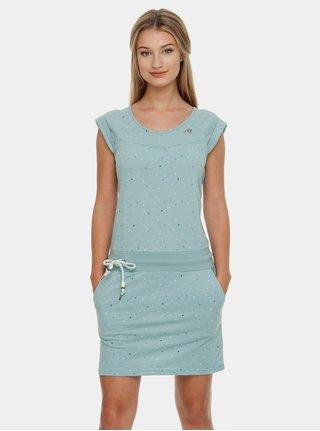 Rochie albastru deschis cu model si snuri Ragwear Penelope