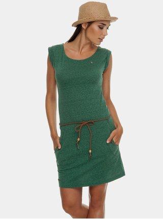 Rochie verde melanj cu cordon Ragwear Tag