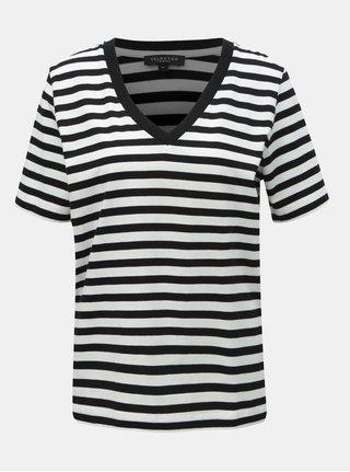 Bílo-černé pruhované basic tričko Selected Femme Standard