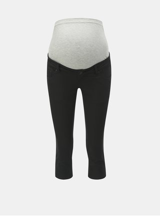 Černé těhotenské 3/4 slim fit džíny Mama.licious