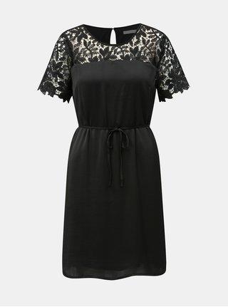 Černé šaty s krajkovými detaily VILA Melli