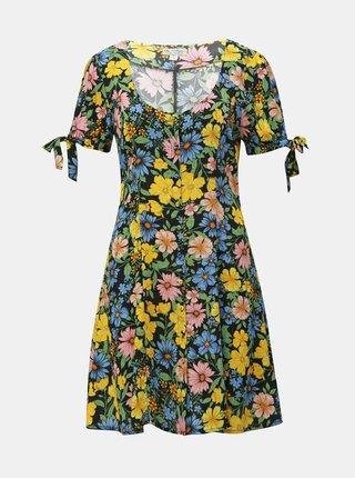 Rochie neagra florala Miss Selfridge